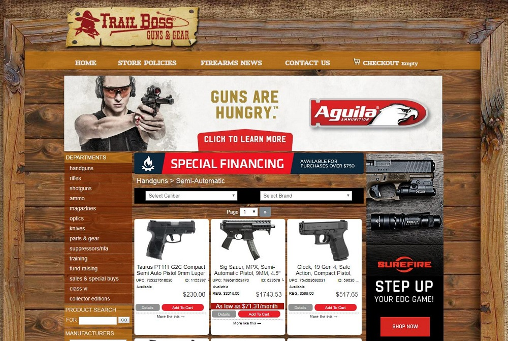 Trail Boss Guns Secondary Website