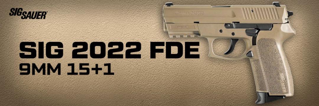 Sig Sauer 2022 FDE 9mm 15+1