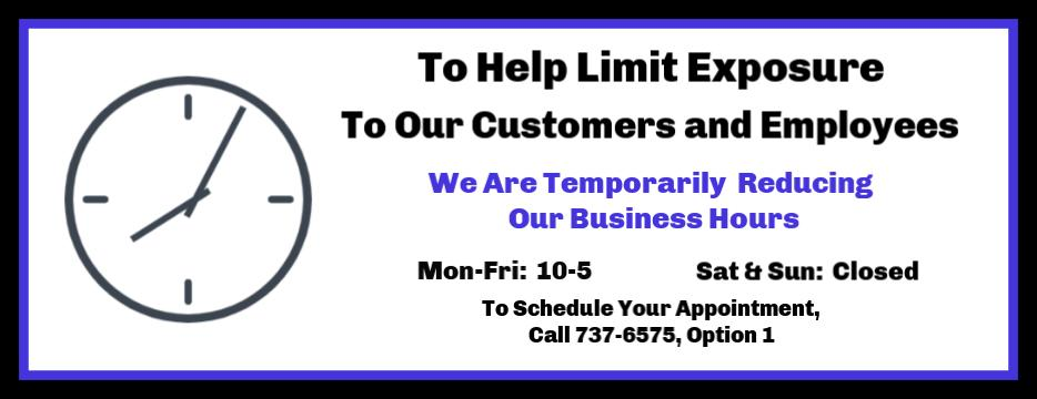 X-Ring Temporary Hours