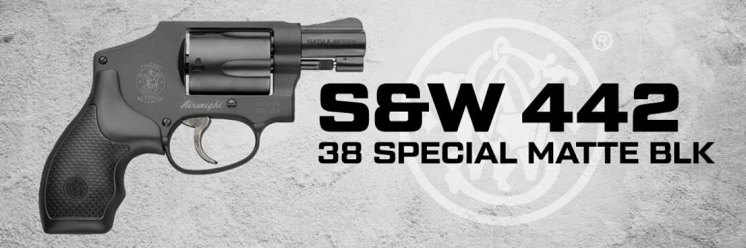 S&W 442 38 Special Matte Black