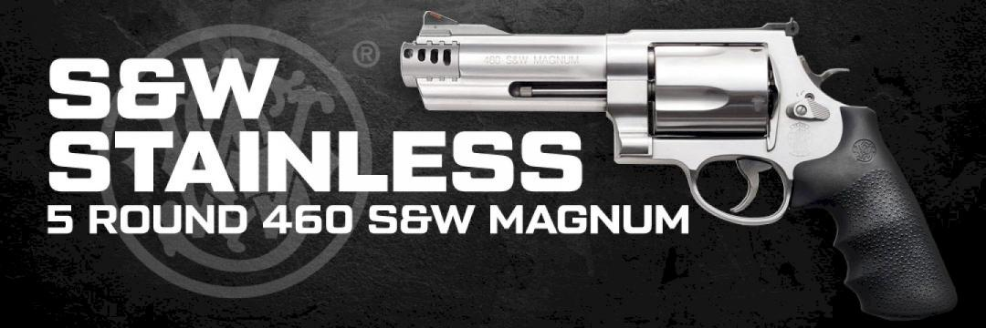 S&W Stainless 5rd 460 S&W Magnum